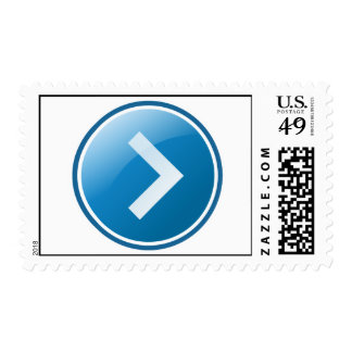 Blue Arrow Button - Right Postage