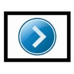 Blue Arrow Button - Right Postcard