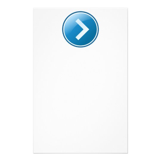 Blue Arrow Button - Right Stationery