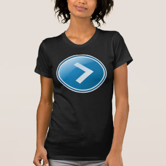 Blue Arrow Button - Right T-Shirt