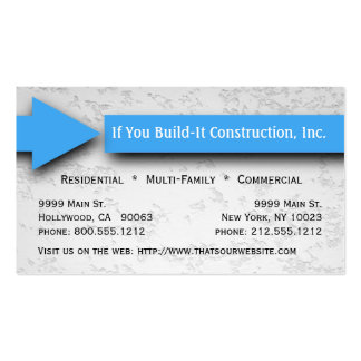 Blue Arrow Construction Business Card