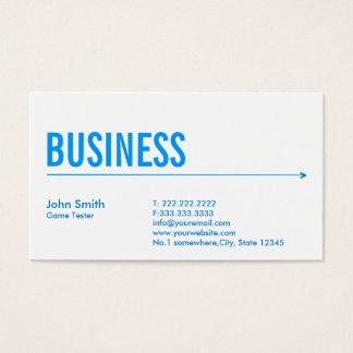 Blue Arrow Game Testing Business Card