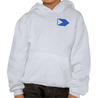 Blue Arrow Hooded Sweatshirt