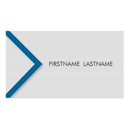 Blue Arrow Personal Networking Business Cards
