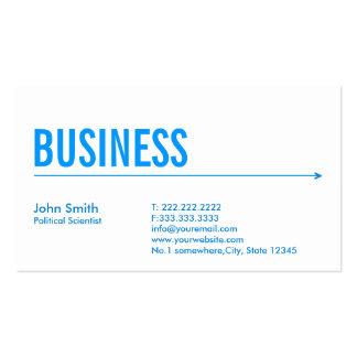 Blue Arrow Political Scientist Business Card