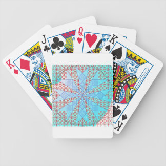 blue arrows with red lattice bicycle playing cards