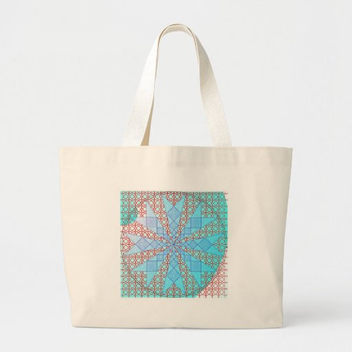 blue arrows with red lattice jumbo tote bag