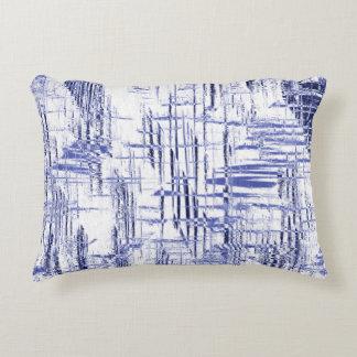 Blue Art Deco Accent Pillow