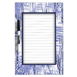 Blue Art Deco Dry Erase Board