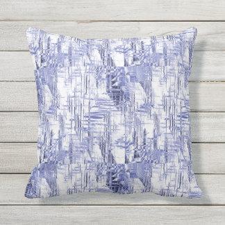 Blue Art Deco Outdoor Pillow