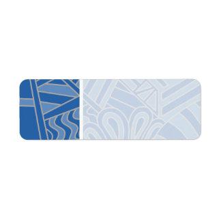 Blue Art Deco Style Design. Label
