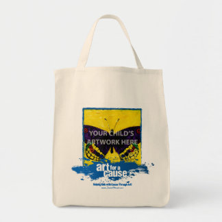 """Blue """"Art for a Cause"""" Tote  $15.95"""