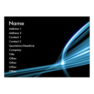 Blue Art Lines Large Business Cards (Pack Of 100)