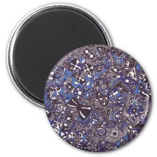 Blue Art Magnet