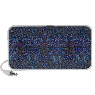 Blue Art Nouveau William Morris Speaker