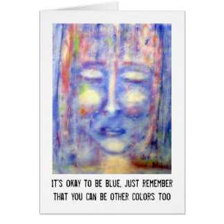 """""""Blue"""" Art & Quote Greeting Card"""