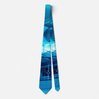 Blue Artificial Intelligence Abstract Neck Tie