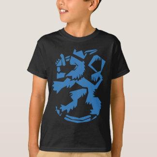 Blue Arty Lion Kids Dark T-Shirt