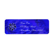 Blue As the Sea Address Labels