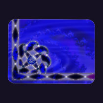 Blue As the Sea Flexible Magnet