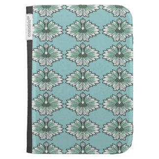 Blue Asian Flower Kindle Covers