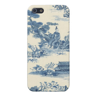 Blue Asian Toile iPhone Case