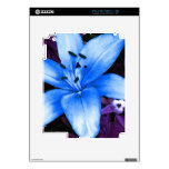 Blue Asiatic Lily Skin For The iPad 2