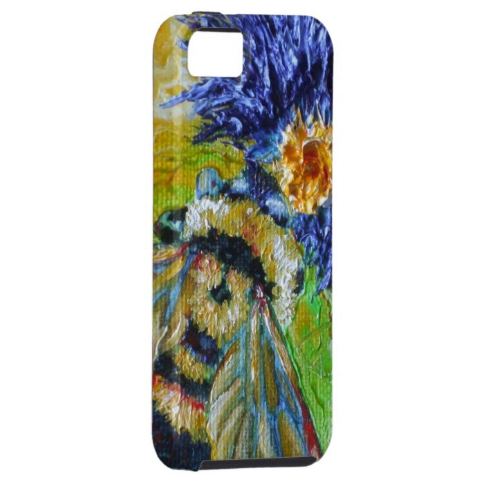 Blue Aster & Bumble Bee iPhone 5 Case