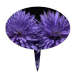 Blue Aster Flower Cake Toppers