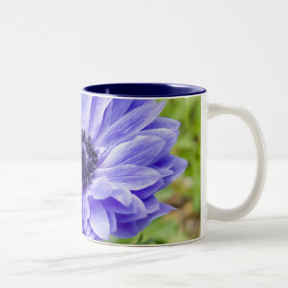 Blue Aster Flower Coffee Cup Two-Tone Coffee Mug