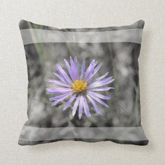 Blue Aster Flower Throw Pillow