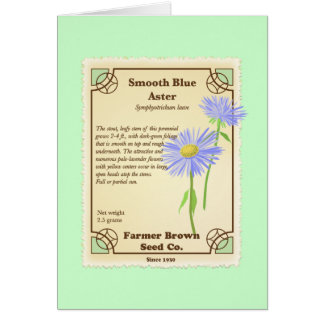 Blue Aster Seed Packet Card