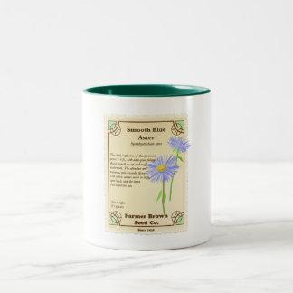 Blue Aster Seed Packet Coffee Mugs