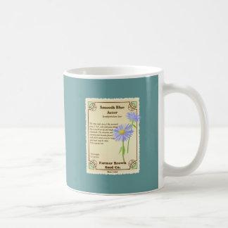 Blue Aster Seed Packet Mug