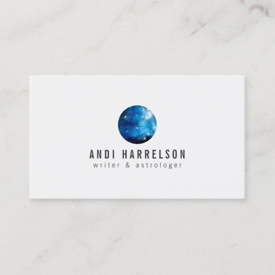 Blue Astrology, Stars, Planet Business Card