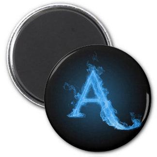 Blue atheist A 2 Inch Round Magnet