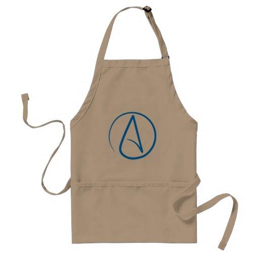 Blue Atheist A Adult Apron