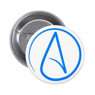 Blue Atheist A Button