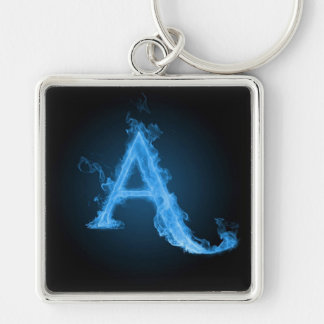 Blue Atheist A Silver-Colored Square Keychain