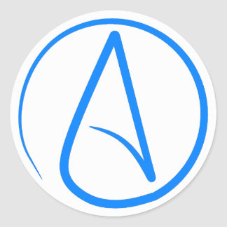 Blue Atheist A Stickers