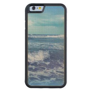 Blue Atlantic Ocean Waves Clouds Sky Photograph Carved® Maple iPhone 6 Bumper Case