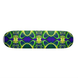 Blue Atom fractal Skate Board Deck