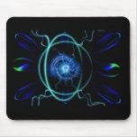 Blue Atom Mouse Pad