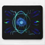Blue Atom Mouse Pads