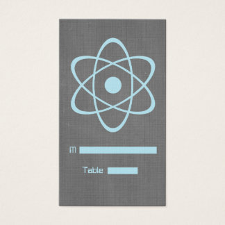 Blue Atomic Chalkboard Place Card