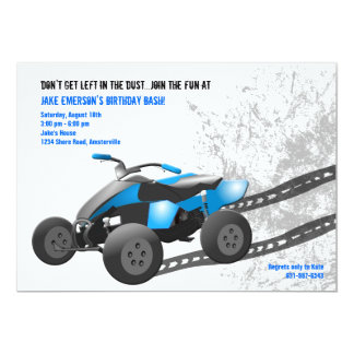 Blue ATV Invitation