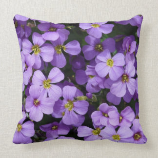 Blue Aubrietien Grade A Cotton Throw Pillow