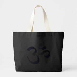 Blue Aum Tote Bags