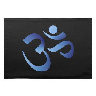 Blue Aum Cloth Placemat