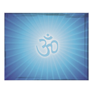 Blue Aum Energy Poster